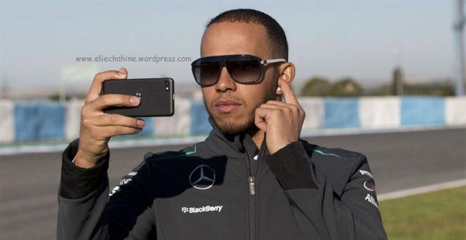 Lewis Hamilton Blackberry Z10