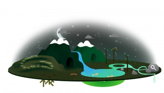 Google Earth Day 2013 doodle animated