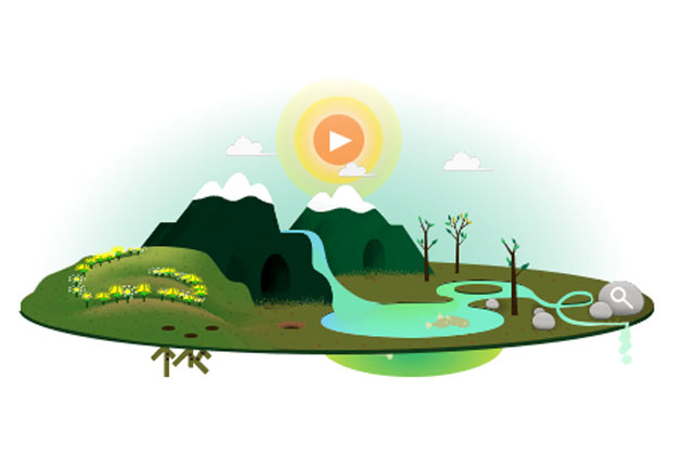 Google Earth Day 2013 doodle
