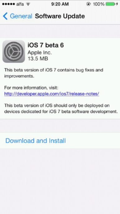 ios 7 beta 6 download