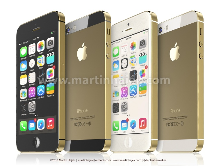 iPhone 5S Gold and black