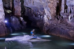 Red Bull Wakeboarding for the First Time Inside Jeita's Grotto!