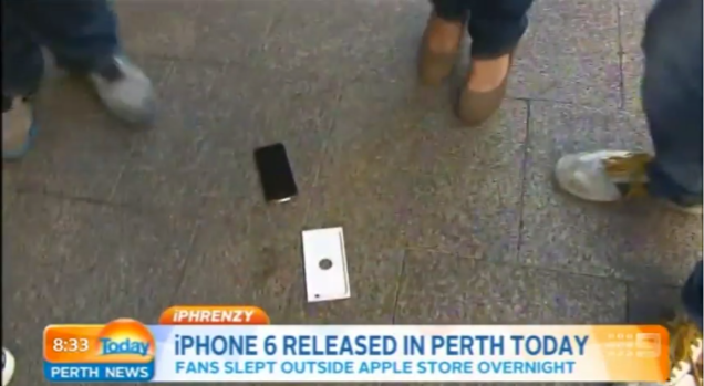 First iPhone 6 Buyer Does an Accidental Drop-Test on TV!