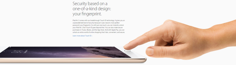 Touch ID iPad Air 2