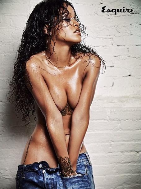 Rihanna naked  esquire