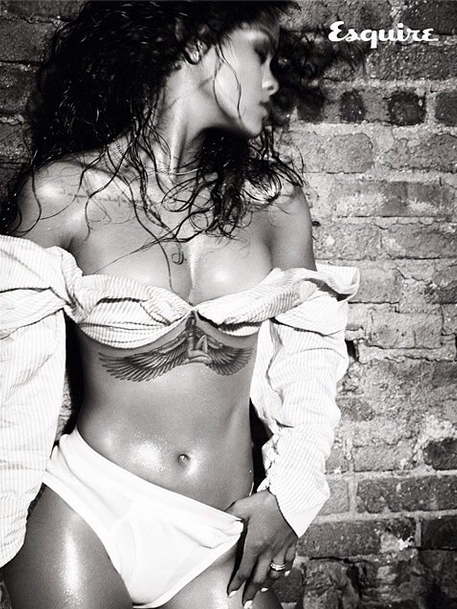 Rihanna Naked Esquire