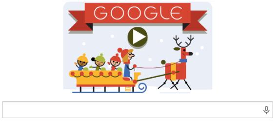 google doodle christmas 2014