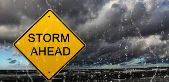 Storm Ahead Sign- ECB