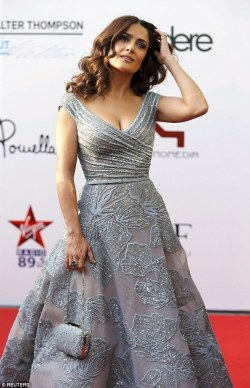 Lebanon's first WORLD PREMIERE: Salma Hayek in Elie Saab's gown for the premiere of Kahlil Gibran's The Prophet