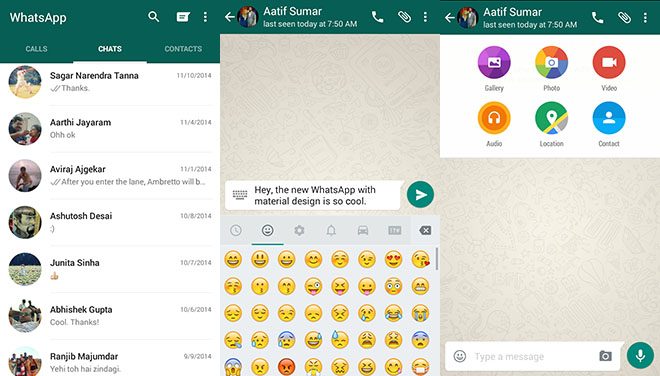WhatsApp Material Design