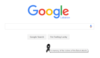 Apple adds a Black Ribbon to French Homepage, Google does the same for Beirut and Paris!